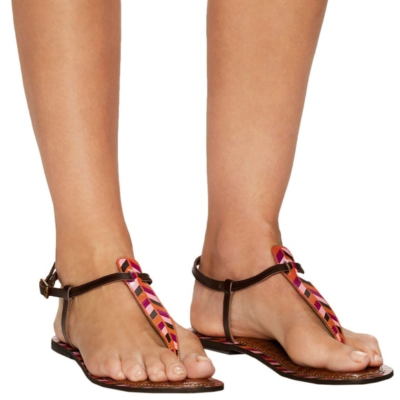 1ab806b696efe 3  30 Sam Edelman Gigi thong sandal pink Chevron